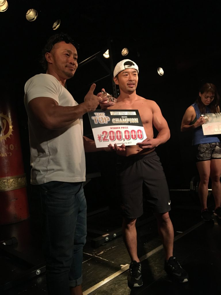 THE TOP(ザトップ)で男子初代チャンピオンとなった鶴田佑助選手