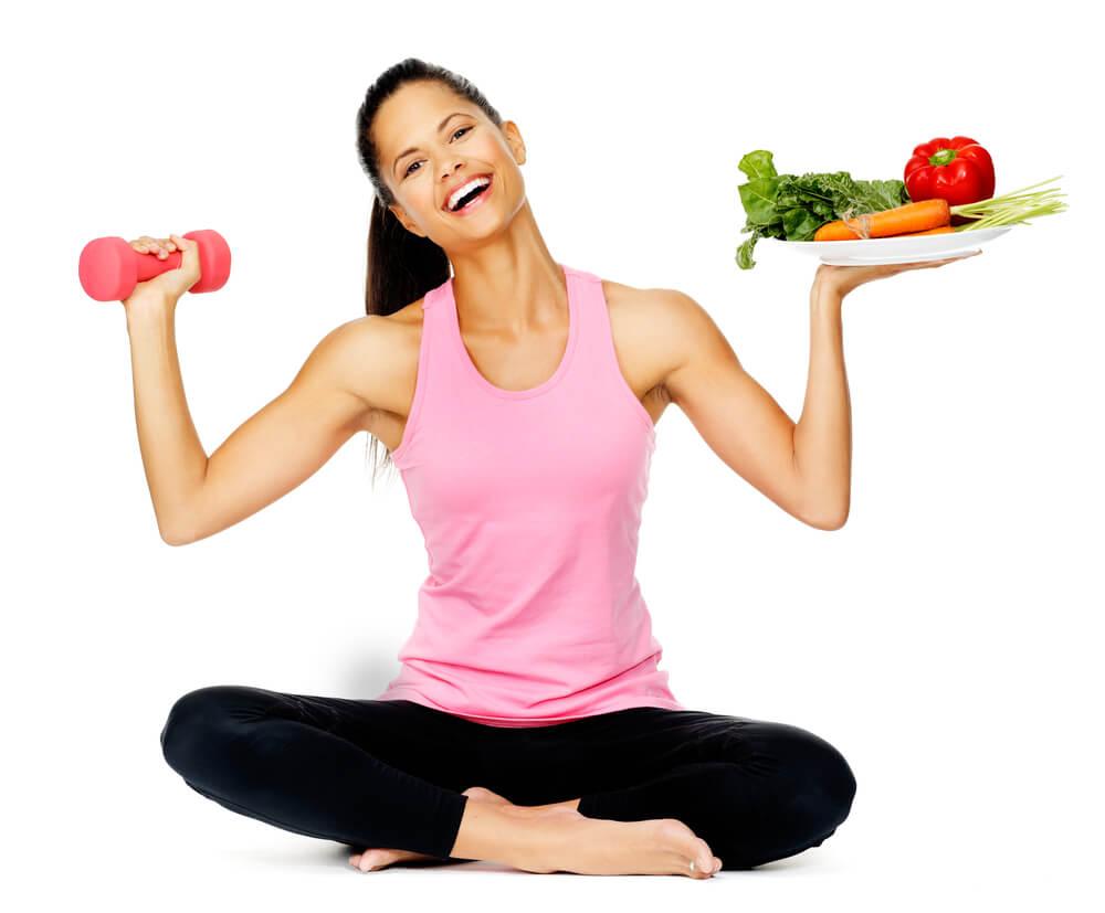 減量中のトレーニングをする女性
