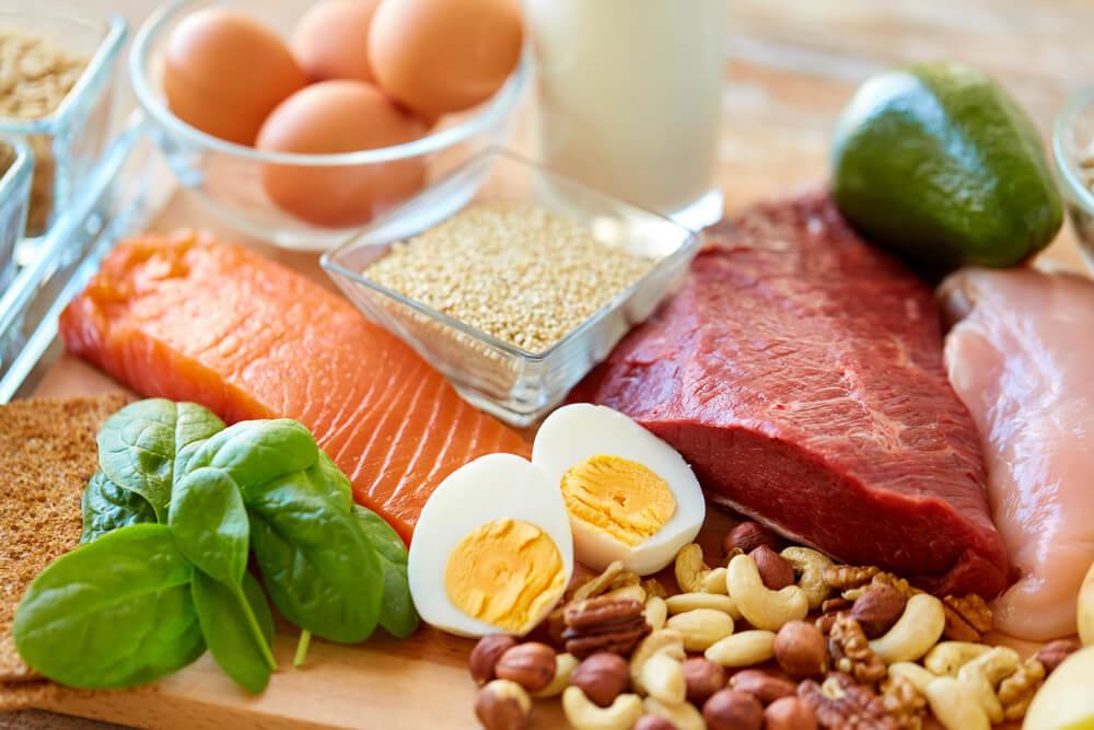 タンパク質を豊富に含む食材